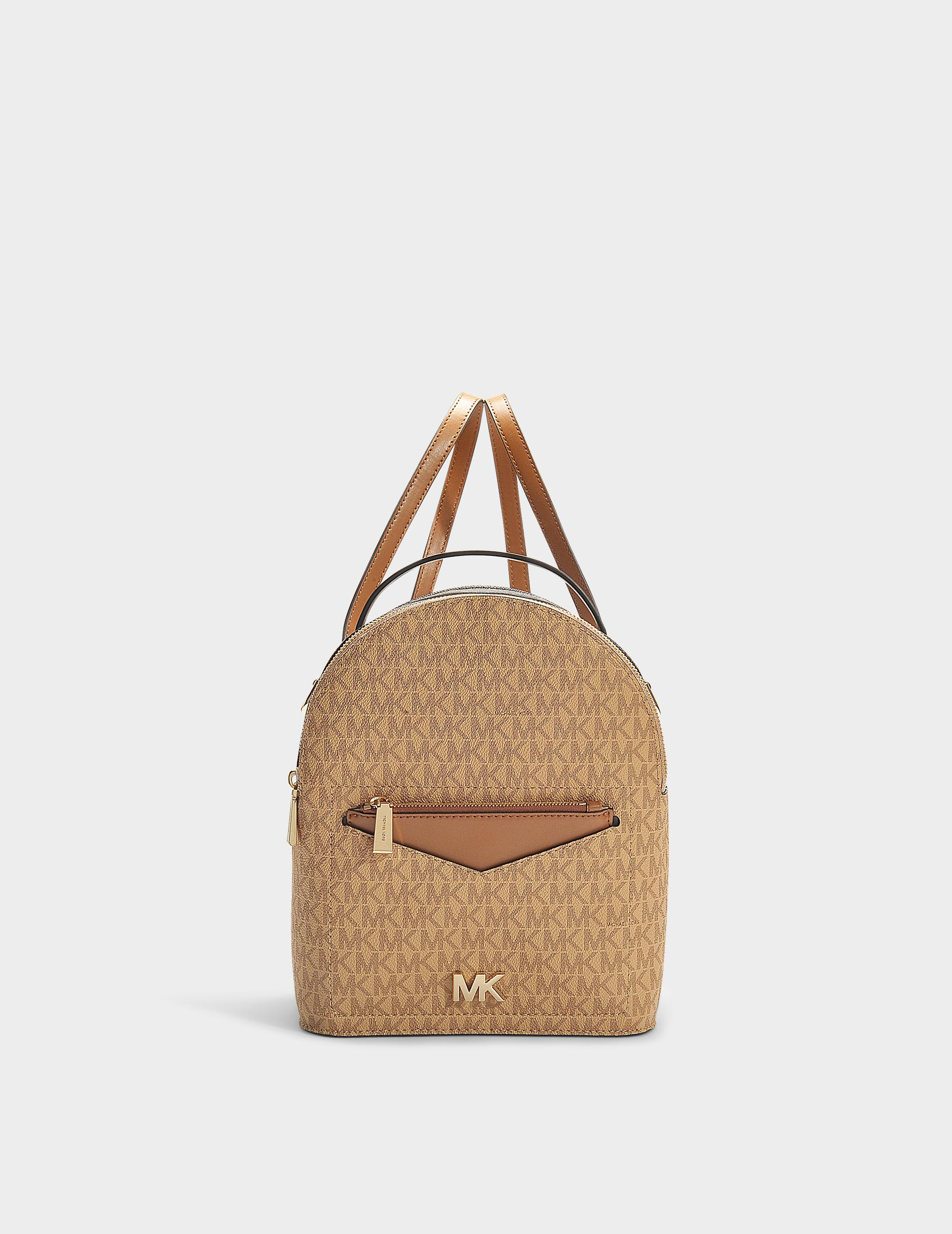7af6e46529687a Michael Michael Kors | Jessa Small Convertible Backpack In White Calfskin  In Brown