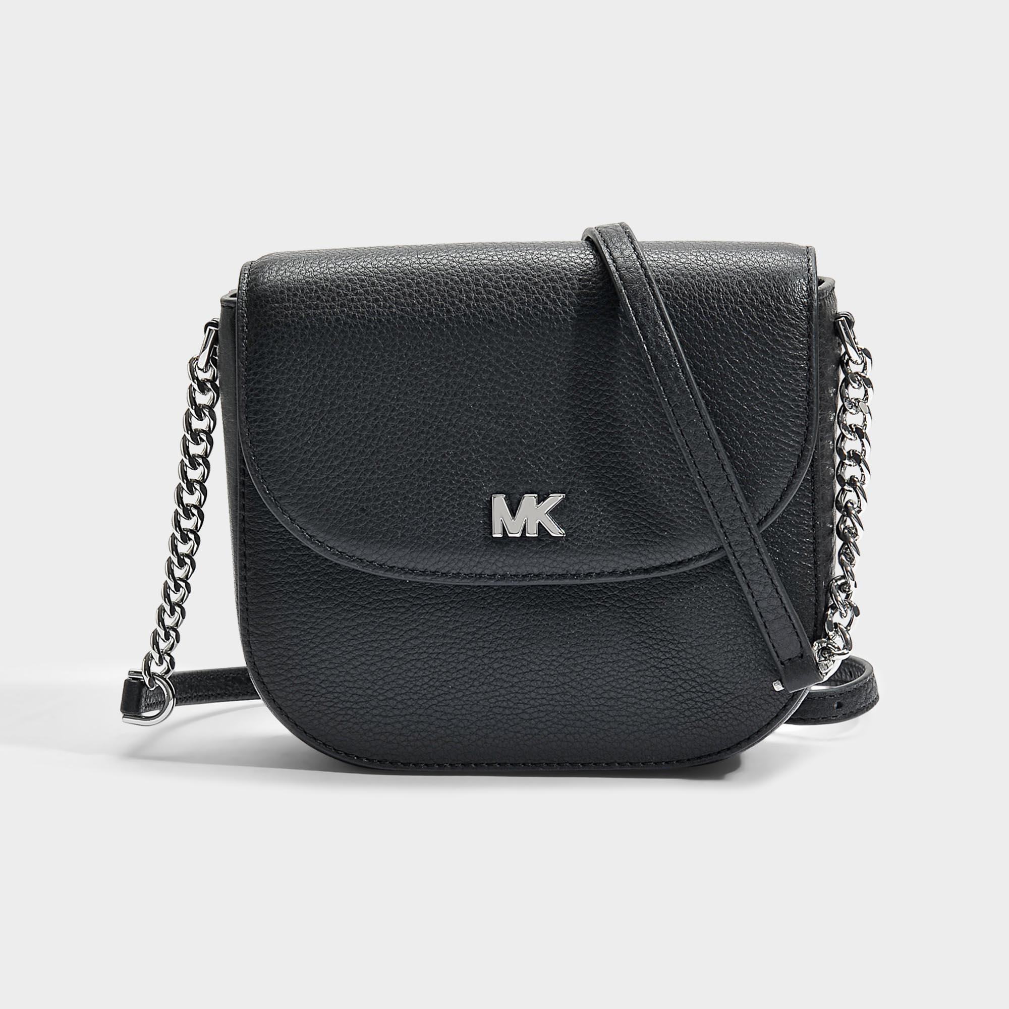 2beedac3c727 Michael Michael Kors   Half Dome Crossbody Bag In Black Small Pebble Leather