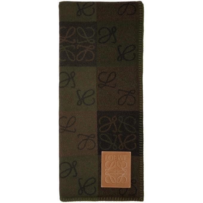 Loewe Green Check Anagram Blanket
