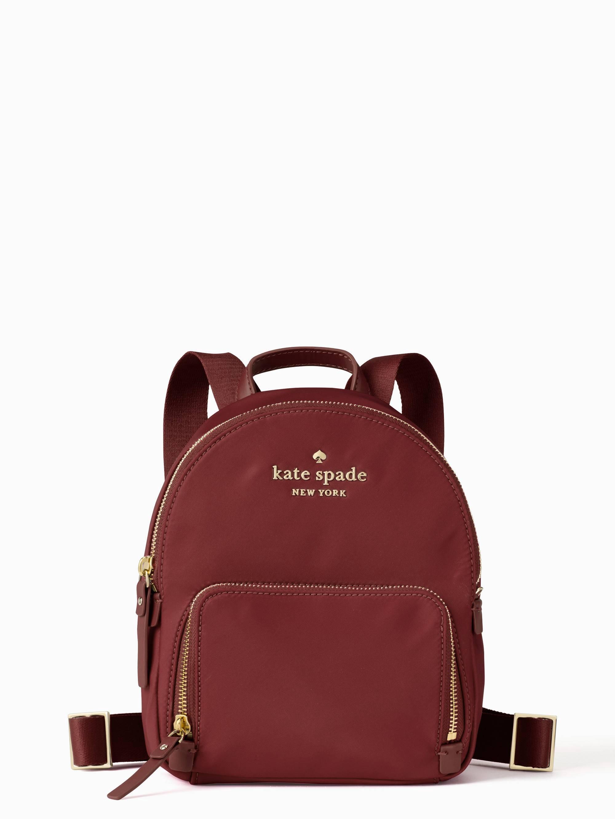 Watson Lane Hartley Nylon Backpack Red In Dark Currant