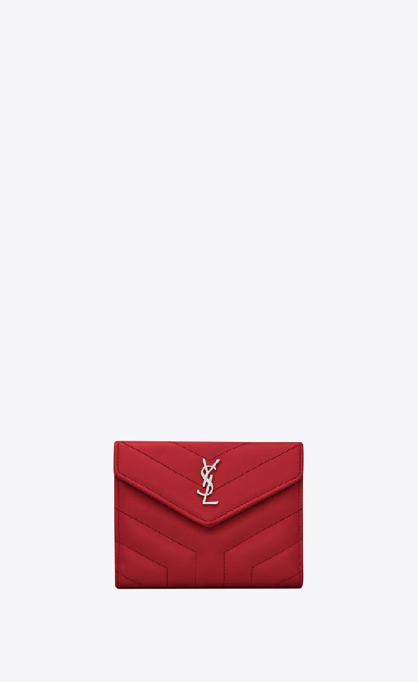 3d6b10cedbd Saint Laurent Loulou Small Envelope Wallet In MatelassÉ