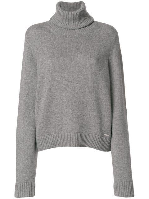 Dsquared2 Turtleneck Knit In Grey