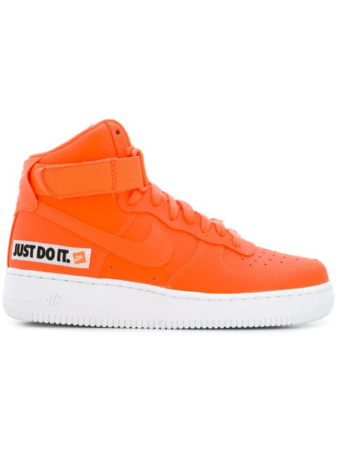 wholesale dealer b65ca a0213 Nike Women s Air Force 1 High Lx Leather Casual Shoes, Orange In Yellow