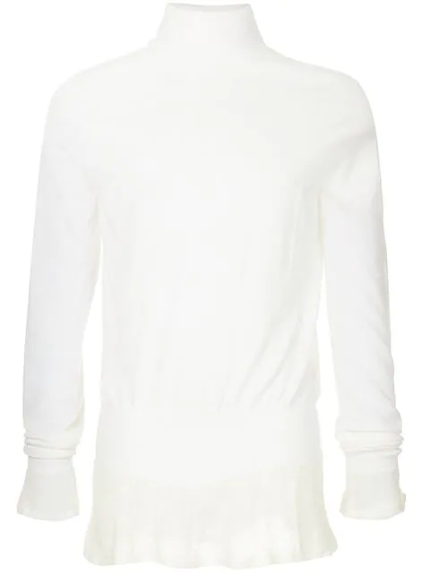 Sacai Roll Neck Sweater In White