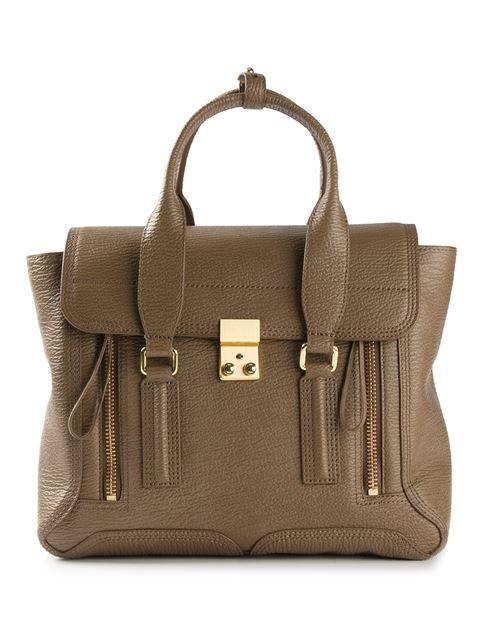 3.1 Phillip Lim Pashli Mini Leather Satchel, Taupe In Brown