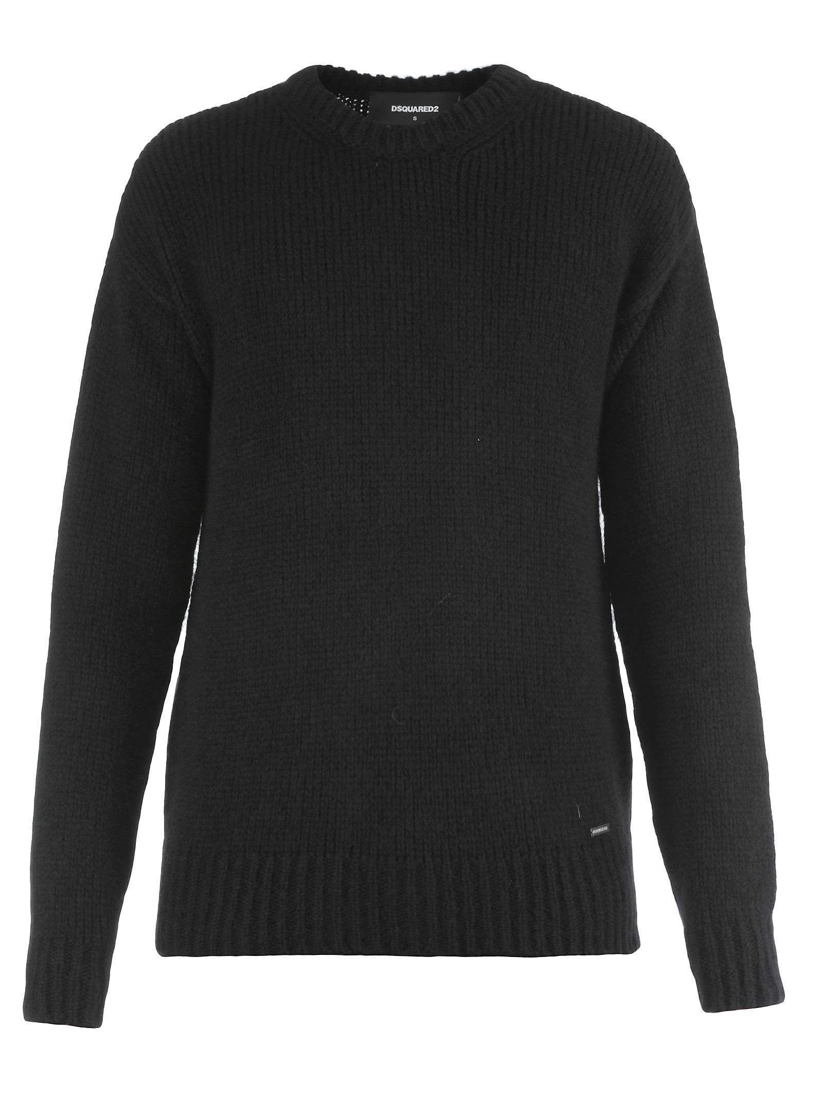 Dsquared2 Wool Sweater In Black
