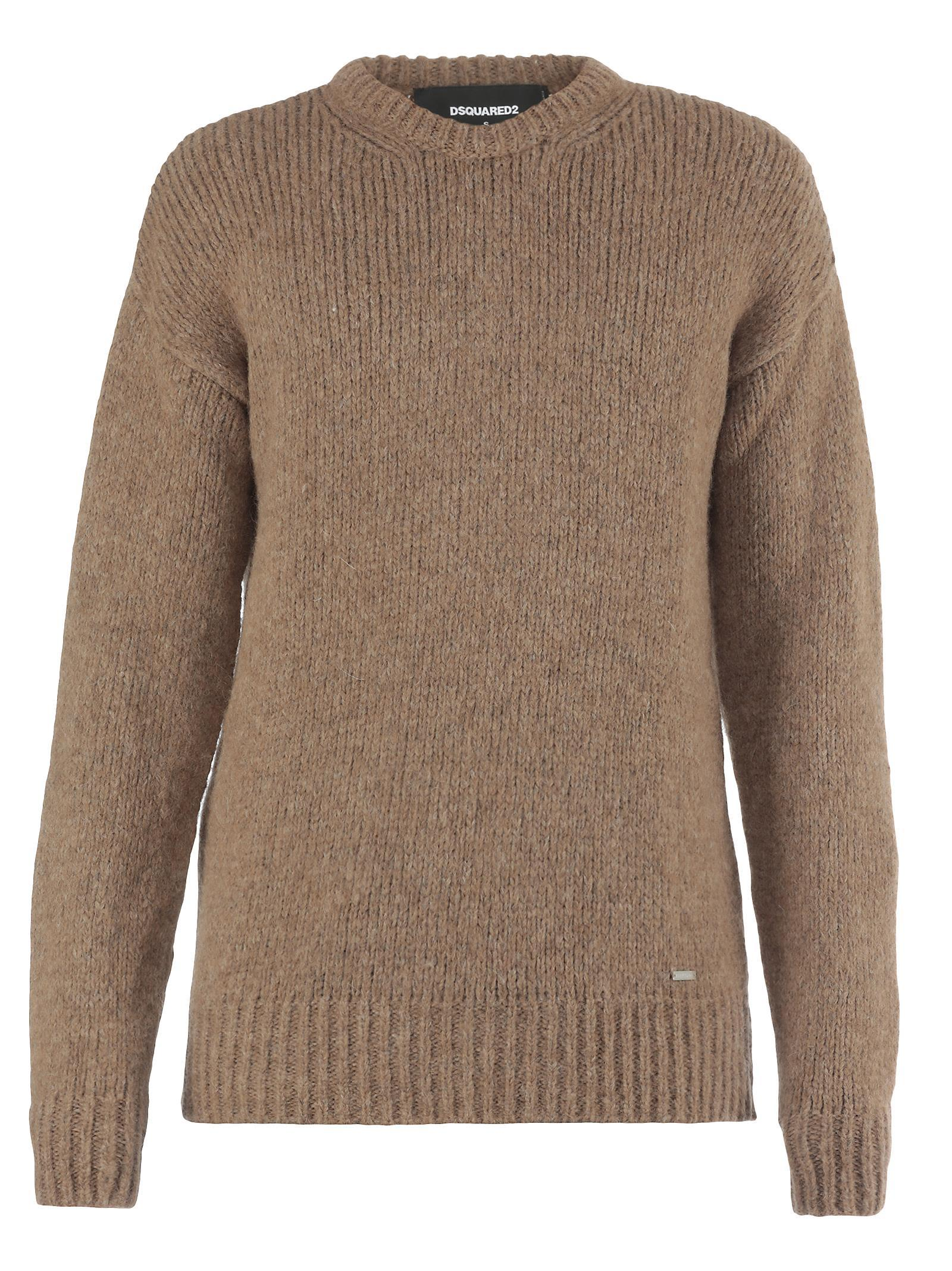 Dsquared2 Wool Sweater In Camel
