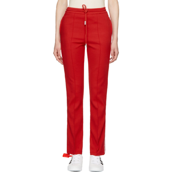 8df186ac Off-White Jersey-Knit Track Pants In Red | ModeSens
