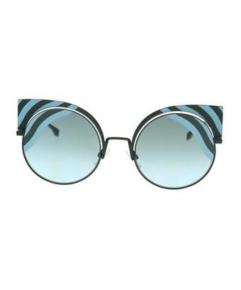 bca5271385a5 Fendi Ff 0215/S 00Kc- Eq Teal Cat Eye Sunglasses In Blue   ModeSens