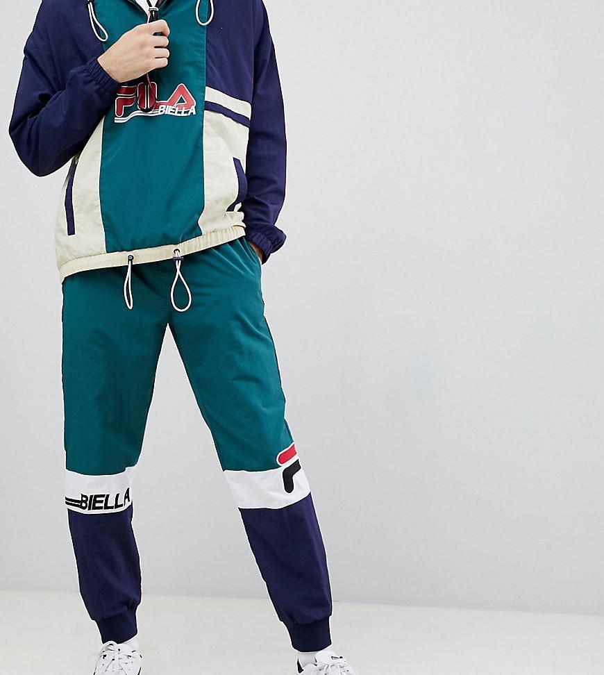 376eddedd84ce Fila Color Block Sweatpants In Green - Green | ModeSens