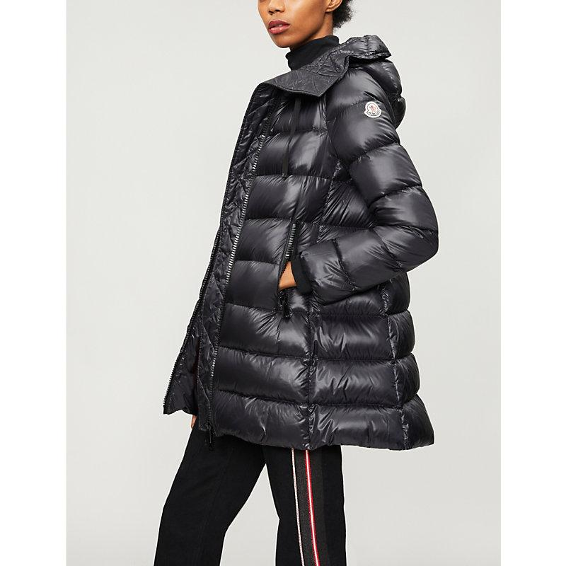 e6d18fec05fa Moncler Suyen Goose Down And Feather-Filled Padded Shell Coat In Black