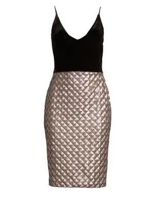 c55ddd16ca6 Black Halo Finley Velvet   Sequin Dress In Black