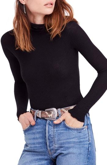 e83962860174e Free People Skyline Thermal Turtleneck In Black