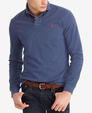 Polo Ralph Lauren Men's Classic Fit Cotton Polo In Rustic Navy Heather