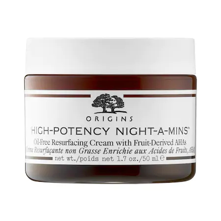 Origins High-potency Night-a-mins™ Oil-free Resurfacing Cream With Fruit-derived Ahas 1.7 oz/ 50 ml In White