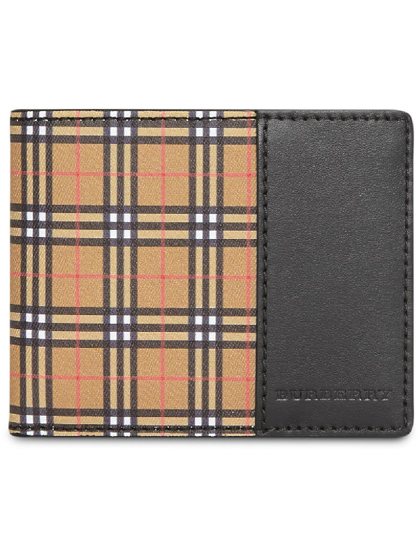 ef251e781a1 Burberry Small Scale Check International Bifold Wallet In Antique ...