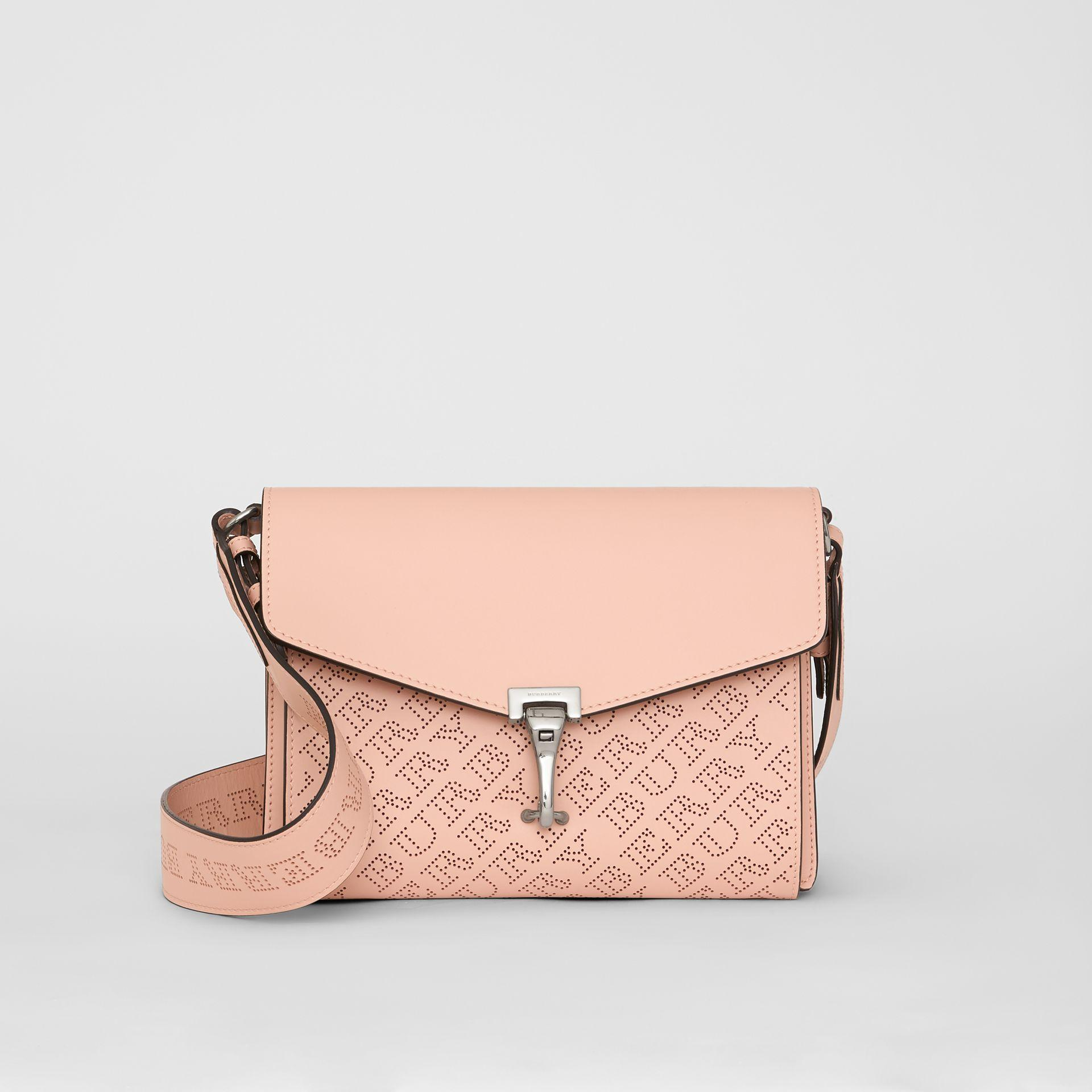 1cab13d736b3 Burberry Small Perforated Logo Leather Crossbody Bag In Pink