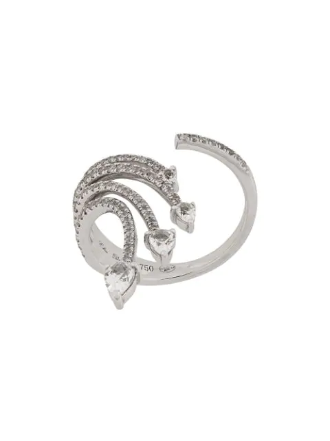 Elise Dray 18kt White Gold And Diamond Ring In Metallic