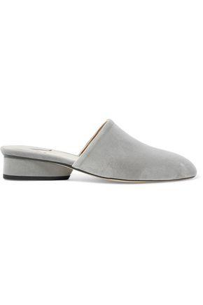 Paul Andrew Woman Pisa Velvet Slippers Stone