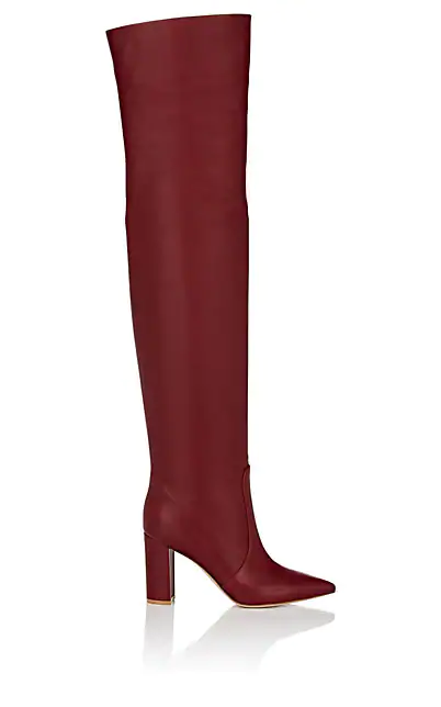 Gianvito Rossi Morgan Leather Over-The-Knee Boots In Red