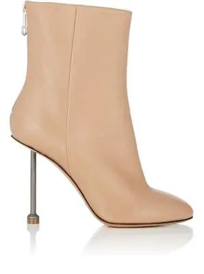 Maison Margiela Metal-Heel Leather Ankle Boots - Nudeflesh