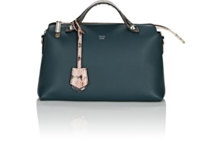 Fendi By The Way Small Leather Shoulder Bag - Amazone Green