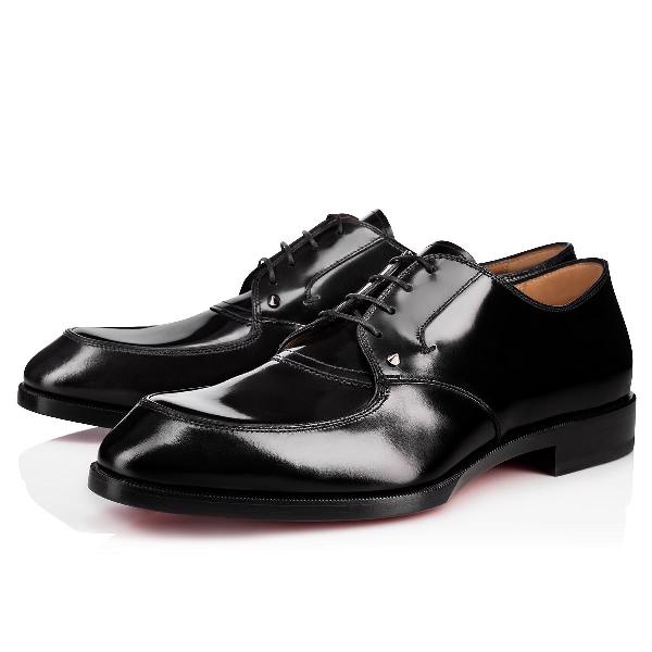 Christian Louboutin Thomas Iii Leather Oxford Shoes In Black