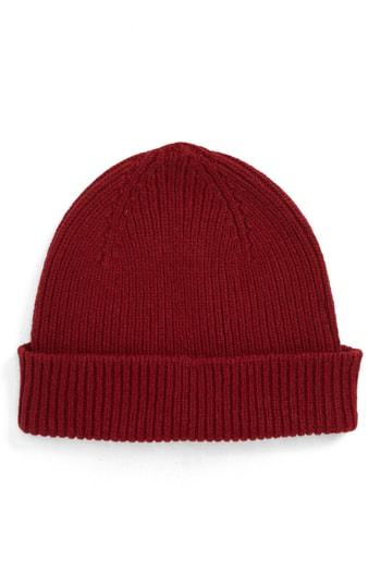 45d3f5a3a84 Paul Smith Cashmere   Wool Beanie - Red