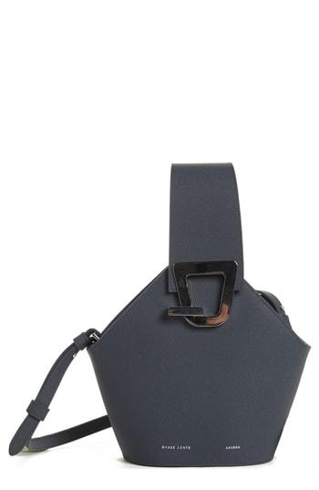 990521c4a1f9e Danse Lente Mini Johnny Leather Bucket Bag In Marine