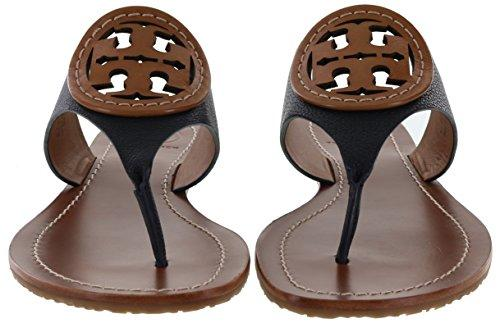 e2011308211 Tory Burch Louisa Flat Thong Micro Tumbled Leather Sandal Style No 32068 In  Tory Navy