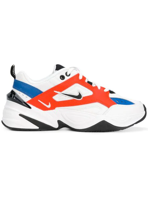 d349f3510bf98 Nike M2K Tekno Leather And Neoprene Sneakers In White | ModeSens