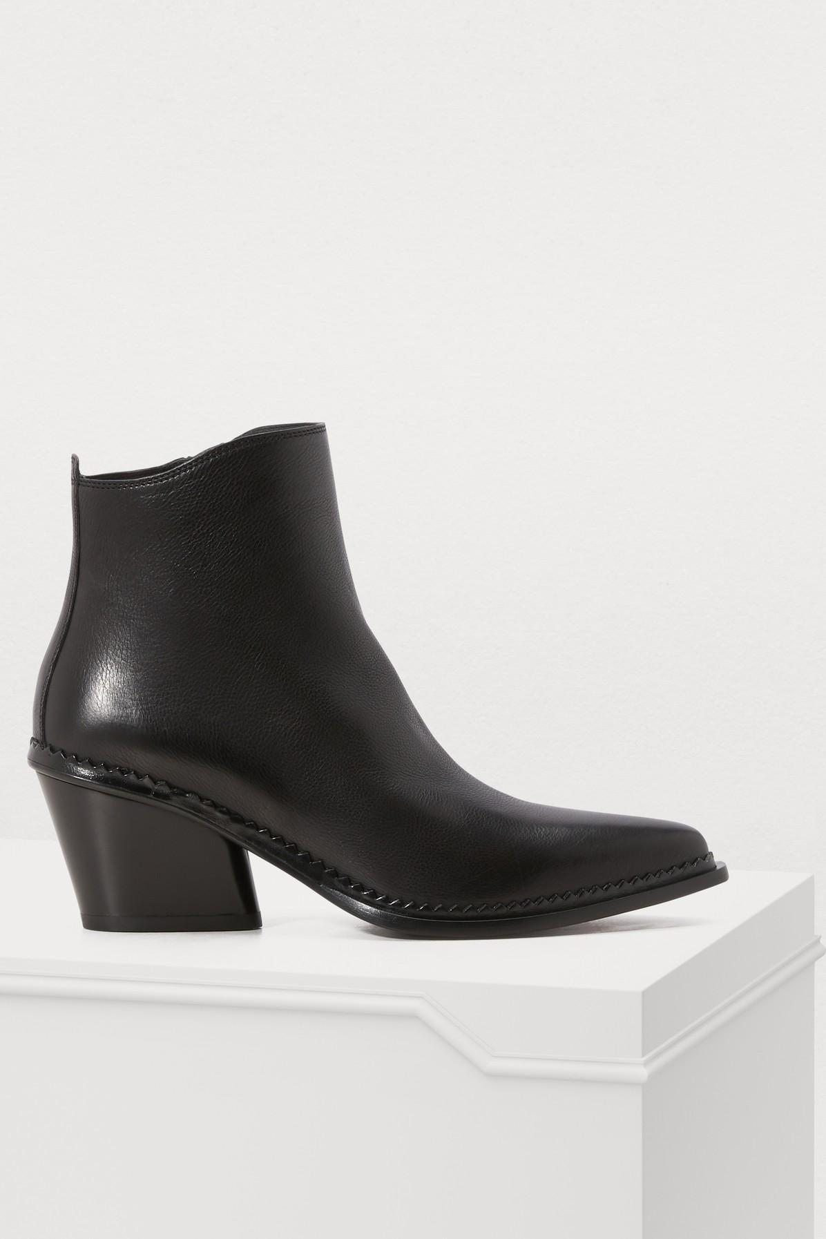 682bfa6d77c3 Sartore Frida High-Heeled Ankle Boots In Nero