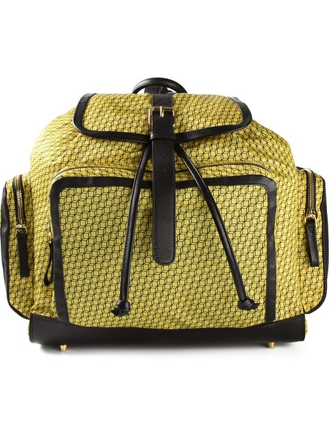 Pierre Hardy Graphic Print Backpack In Yellow
