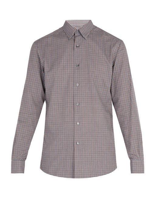 82f0ac70 Micro-gingham cotton shirt