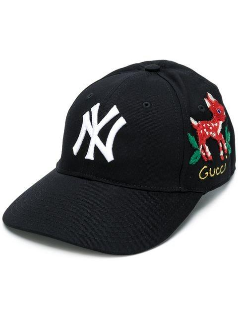 5e07a96dedfb0 Gucci Ny Yankees™ Baseball Cap In Black