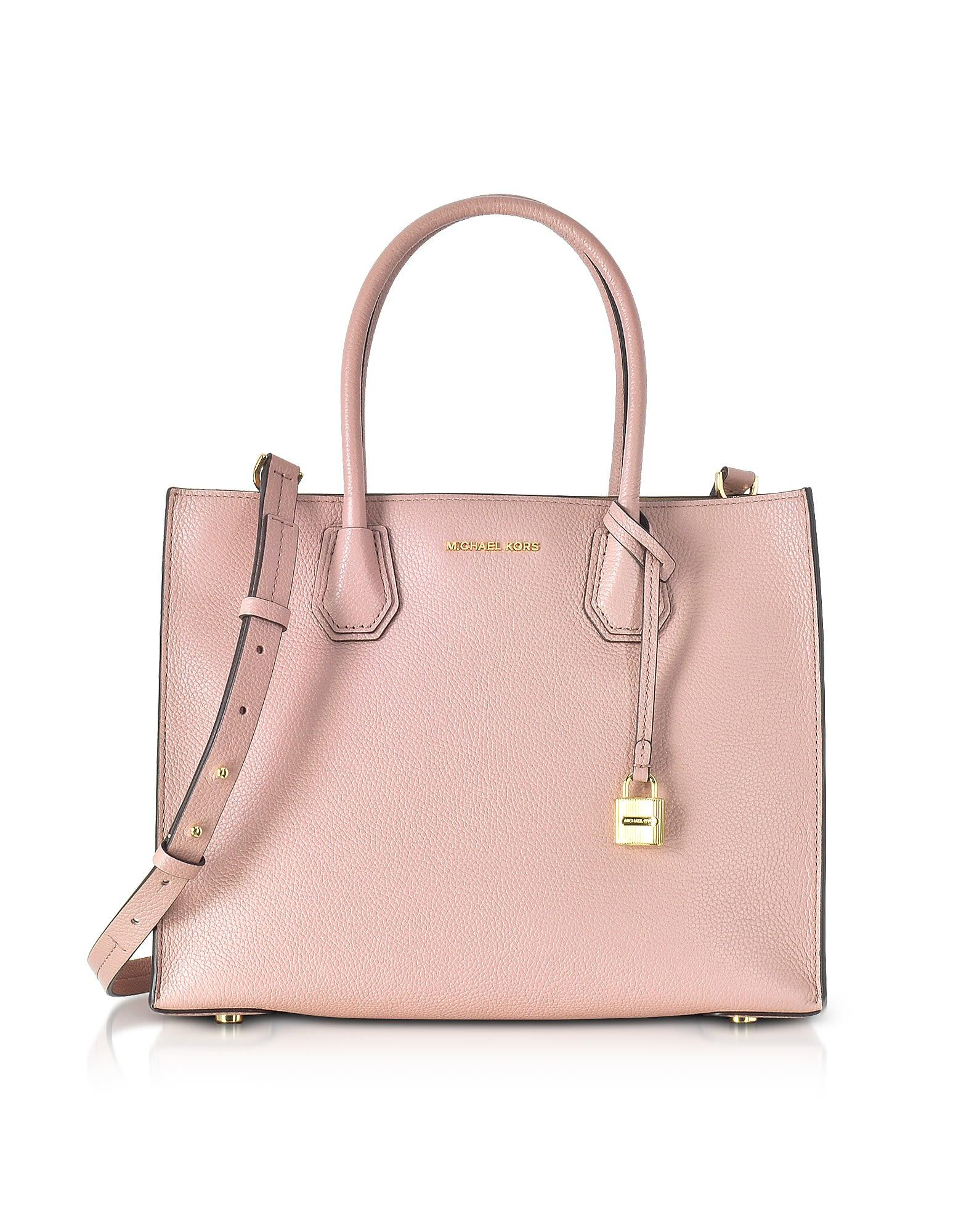 84ae4bad948d14 Michael Kors Mercer Large Leather Tote In Pale Pink | ModeSens