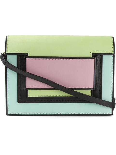 Pierre Hardy Square On Square Clutch In Mint-Lim