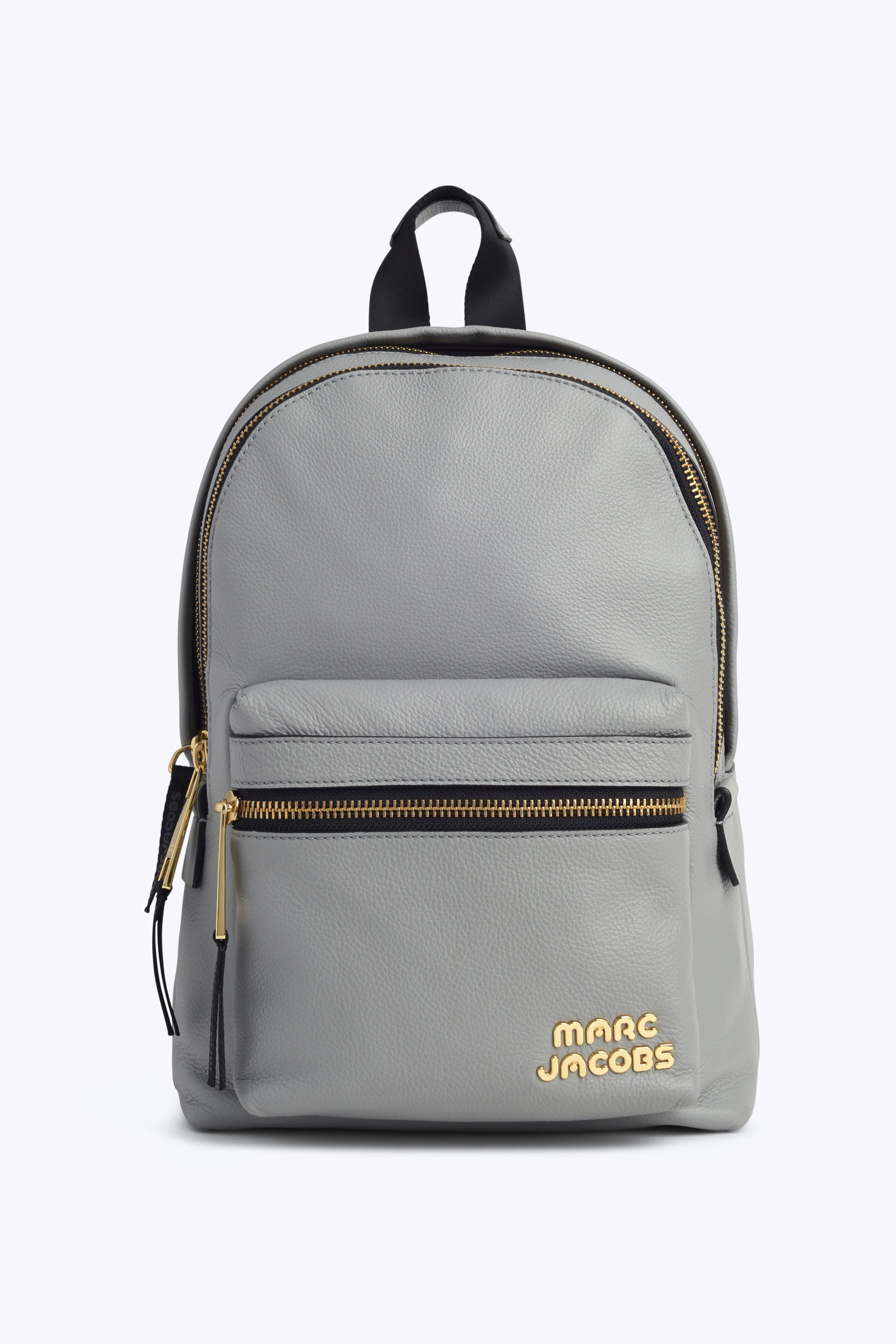 Marc Jacobs Medium Trek Leather Backpack - Grey In Griffin