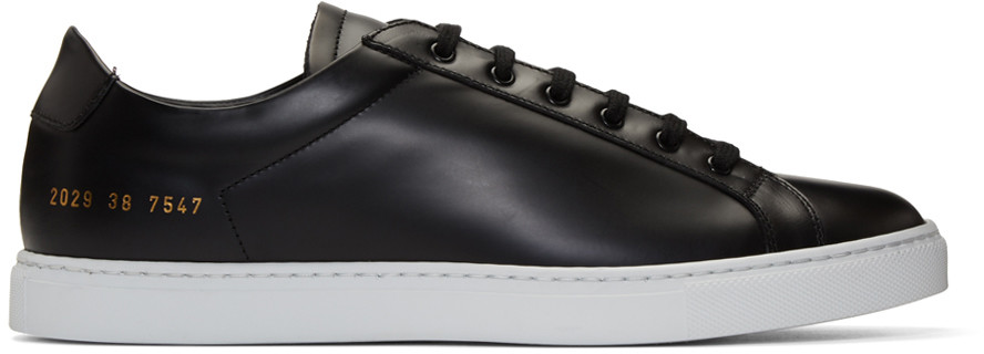927baab54c8cb Common Projects Original Achilles Low Black Leather Men s Sneaker W White  Sole