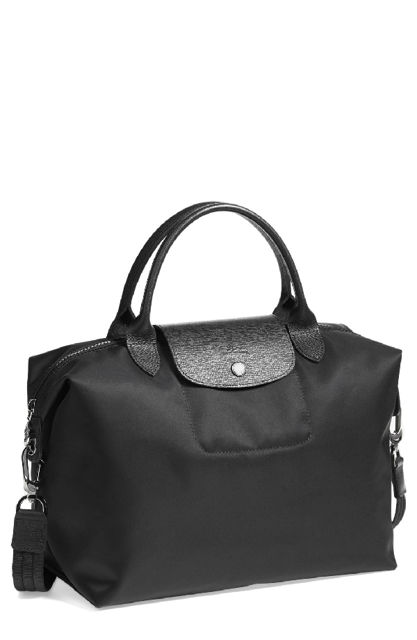 0b706b113c Longchamp 'Medium Le Pliage Neo' Nylon Top Handle Tote - Black ...