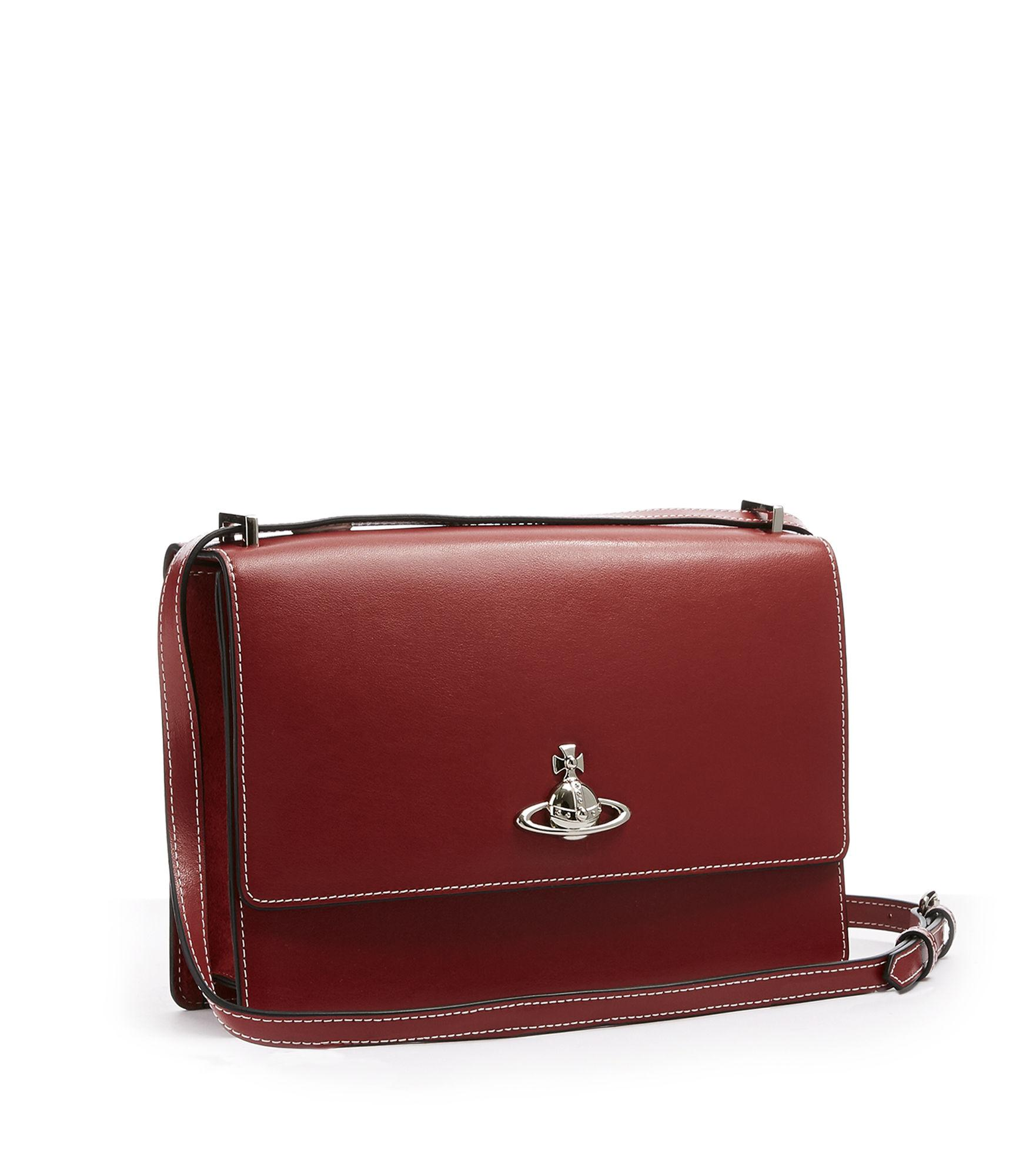 3c7ce1faee9c Vivienne Westwood Matilda Large Bag With Flap Red | ModeSens
