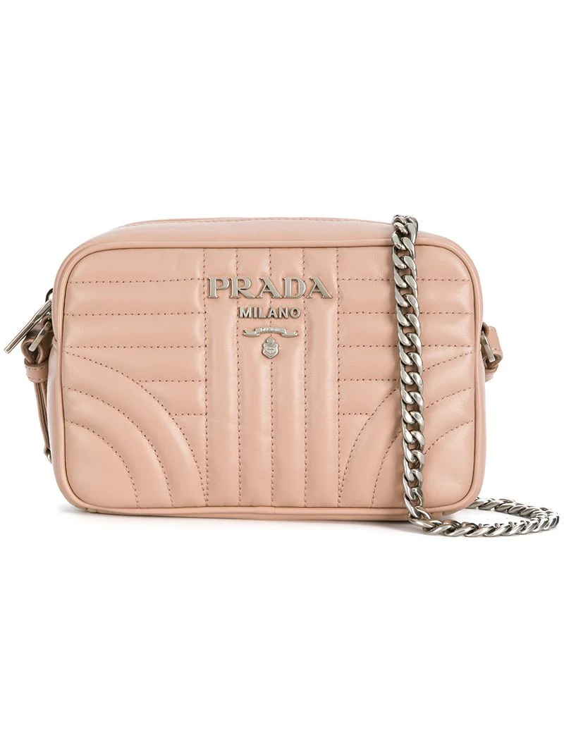 2053561a44 Prada Diagramme Leather Crossbody Bag - Pink