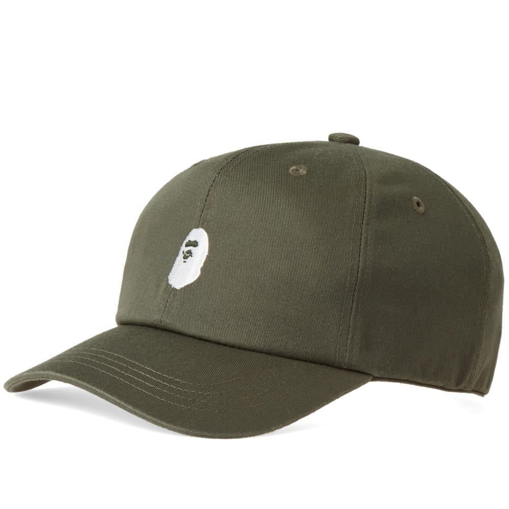 70d1f213ceeb A Bathing Ape Ape Head Embroidery Panel Cap In Green