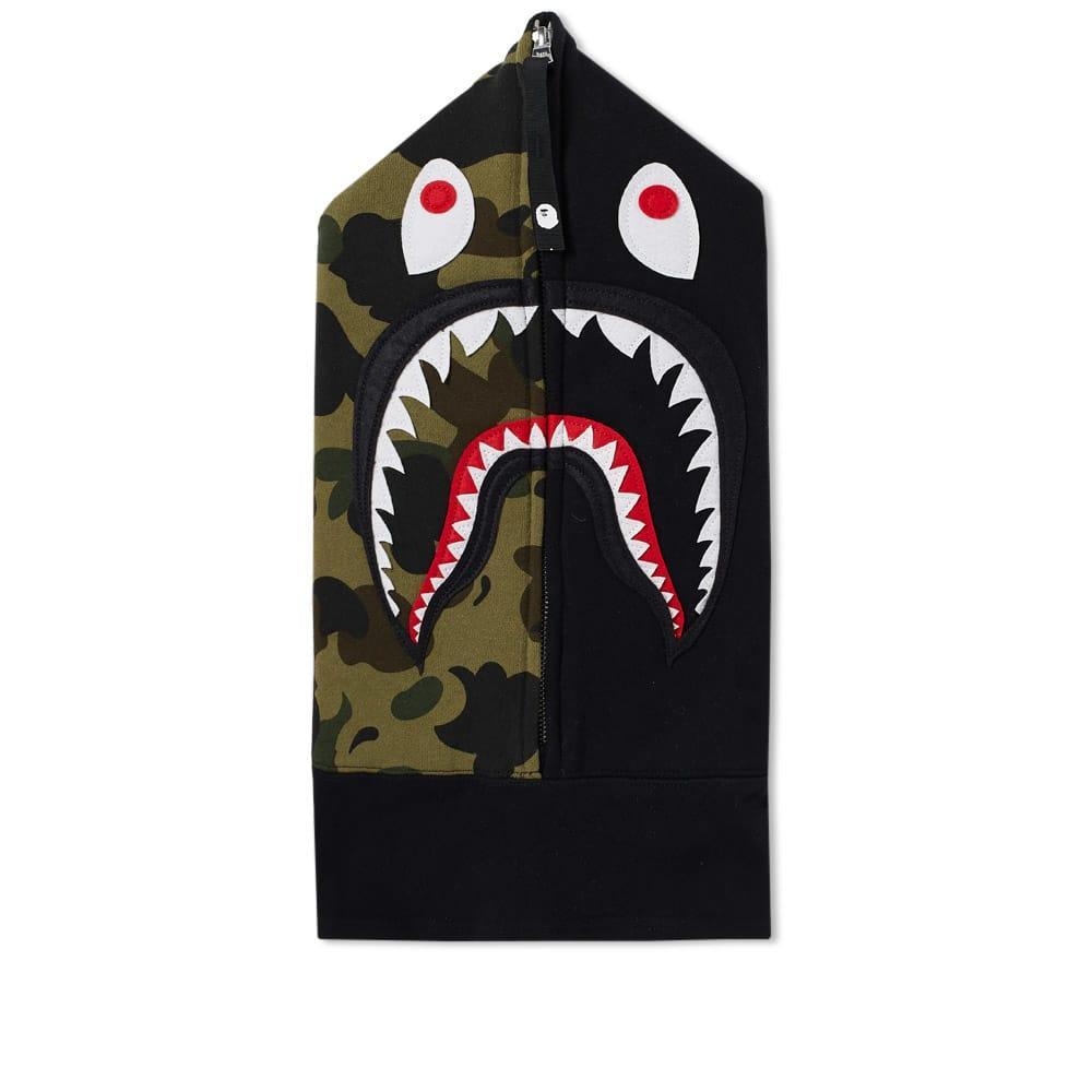 04aacfa9 A Bathing Ape Shark Face Mask In Black | ModeSens