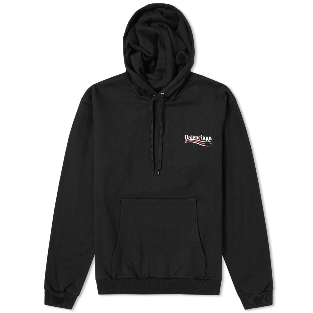 94404109dc Balenciaga Political Campaign Logo Hoody In Black   ModeSens