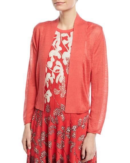 Nic + Zoe Plus Size Daybreak Open-Front Cardigan In Spiced Rose