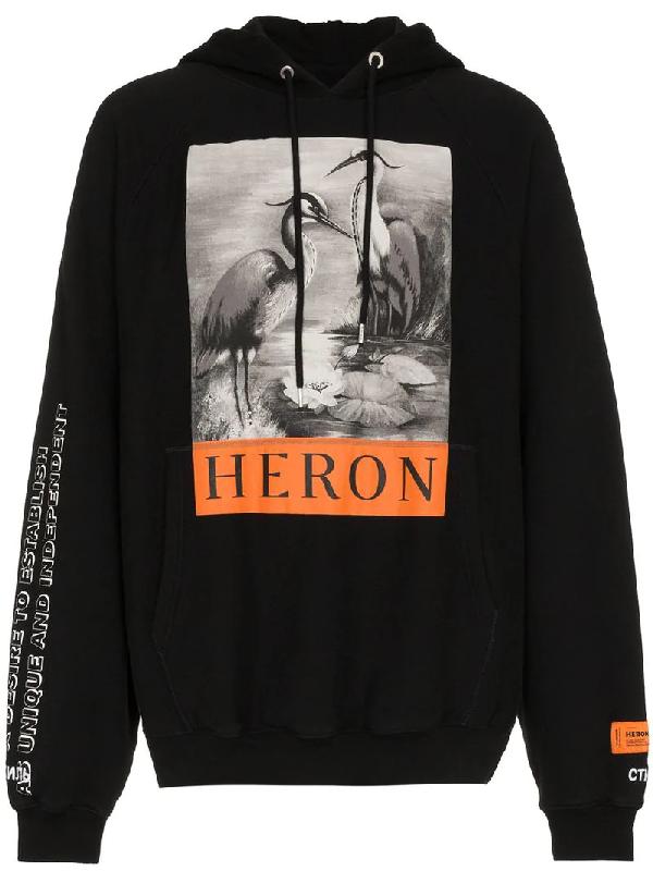 5d8782119195 Heron Preston Printed Cotton-Jersey Hoodie - Black