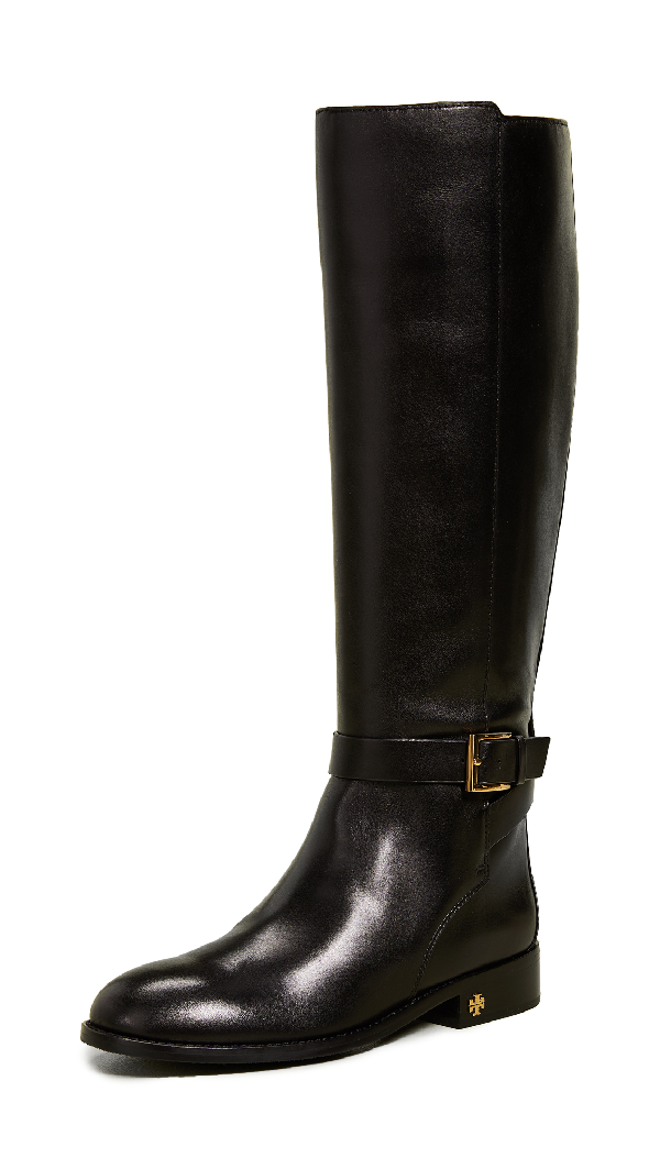 f98fc4f2cdb Women's Brooke Round Toe Leather Riding Boots in Perfect Black