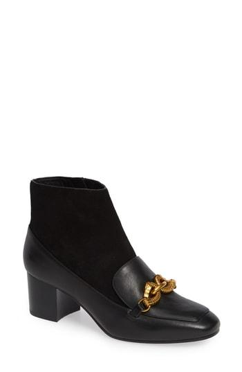 aa2955a1a23 Tory Burch Jessa Horse Hardware Loafer Bootie In Perfect Black ...