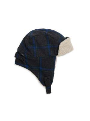 b2821c14f9e792 Paul Smith Check Trapper Hat In Slate | ModeSens